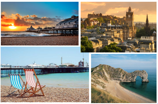 Eastbourne, Edinburgh, Brighton and Swanage -  four of my favourite summer school locations